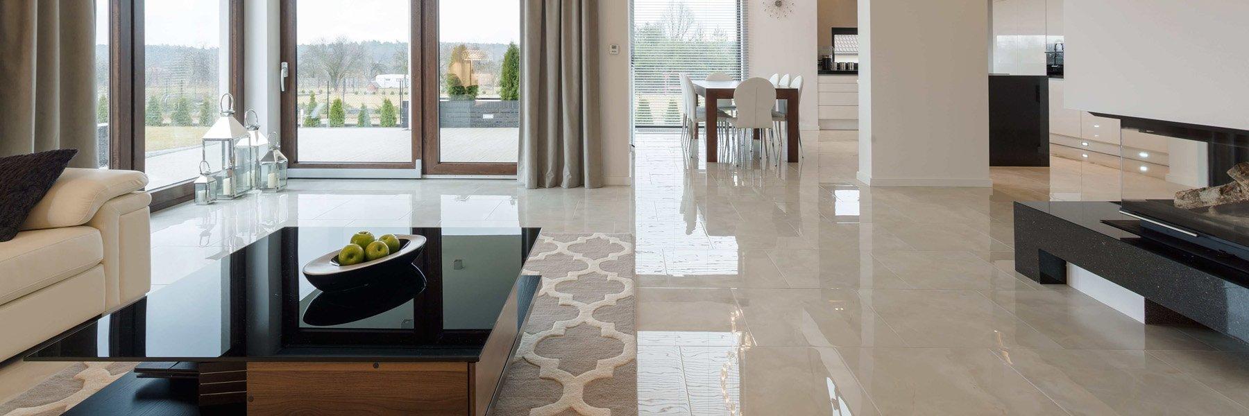 סלון מעוצב עם רצפת אפוקסי מעוצבת