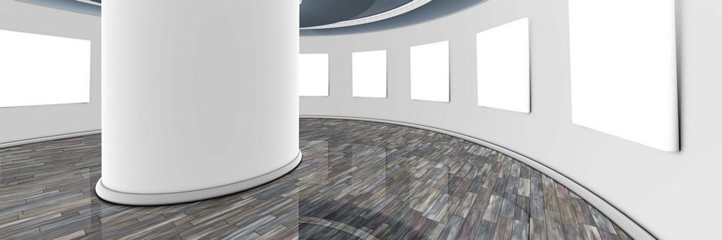 קצפת אפוקסי מעוצבת באולם תצוגה בהיר