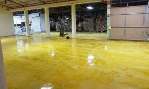 חיפוי אפוקסי צהוב במתחם התעשייה האווירית